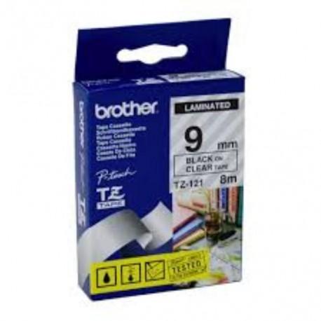 brother 121 brother tz 121 p touch label tape 1 - کاست لیبل برادر مشکی رو بیرنگ Brother Tze-121