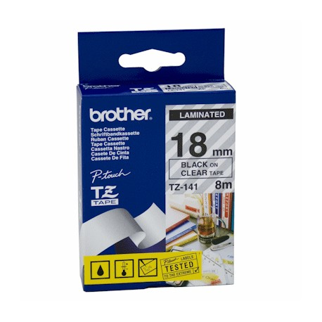 brother 141 brother tz 141 p touch label tape - کاست برچسب لیبل پرینتر برادر Tze-141 مشکی روی بیرنگ