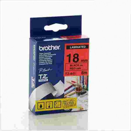 nikassa cassette site brother tz 441 pt label tape - کاست برچسب لیبل پرینتر برادرTze-441 مشکی رو قرمز