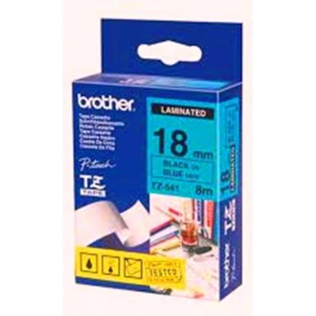 nikassa sitecassette brother tz 541 p touch label tape - کاست برچسب لیبل پرینتر برادرTze-541 مشکی روی آبی