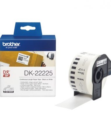 رول برچسب لیبل برادر مشکی رو سفید Brother DK-22225 paper Tape